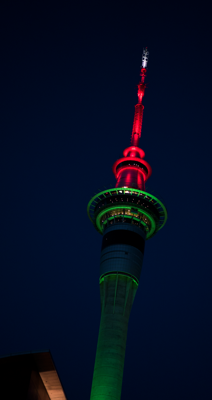 Auckland Sky Tower Christmas lighting by KoAltaiTeMaunga