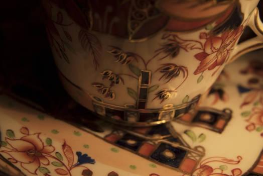 A teacup mural