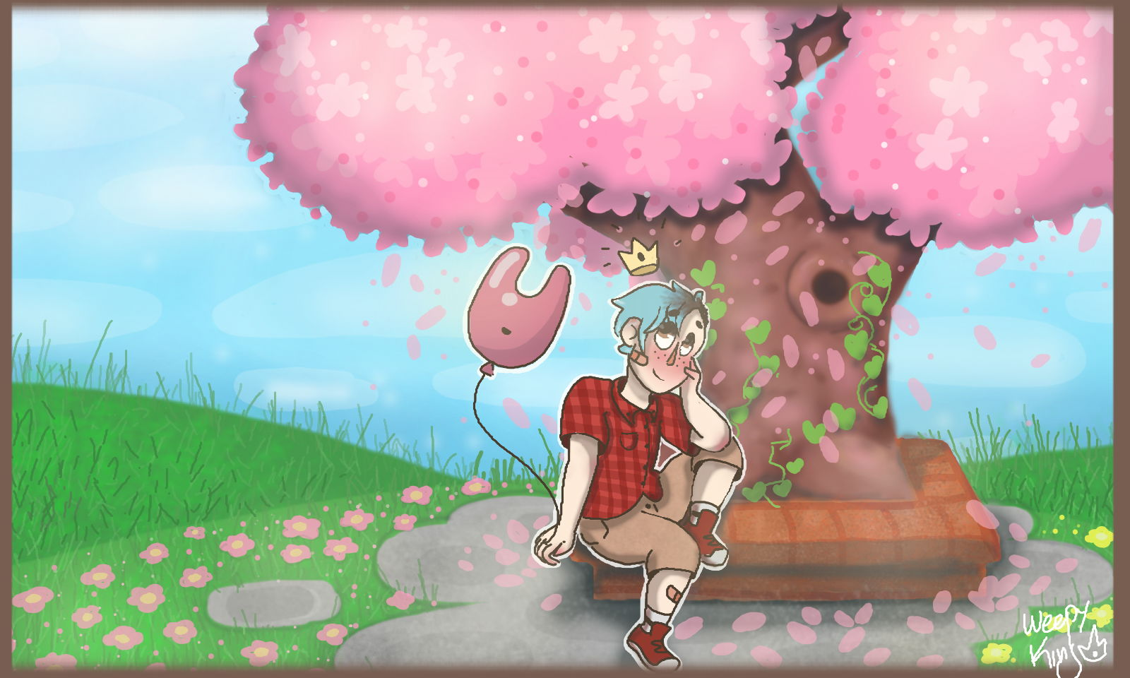 Animal Crossing cherry blossoms by WeepyKing