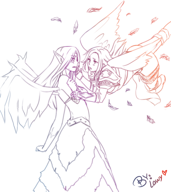 Morgana and Kayle by lawy-chan