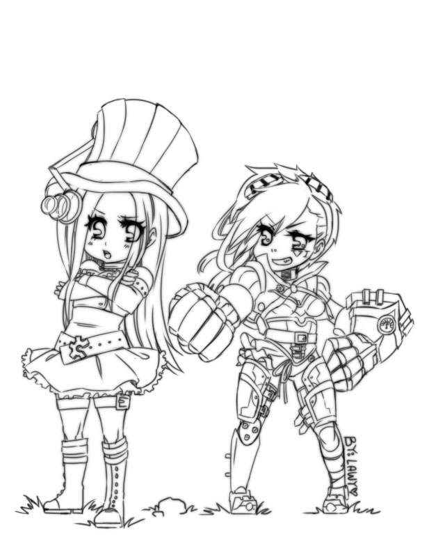 Caitlyn and Vi by lawy-chan