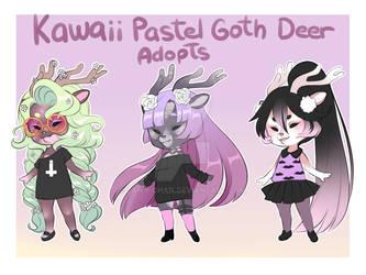 Kawaii Pastel Goth Deer Adopts Auction