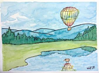 Inktober52 2020 #5: Balloon