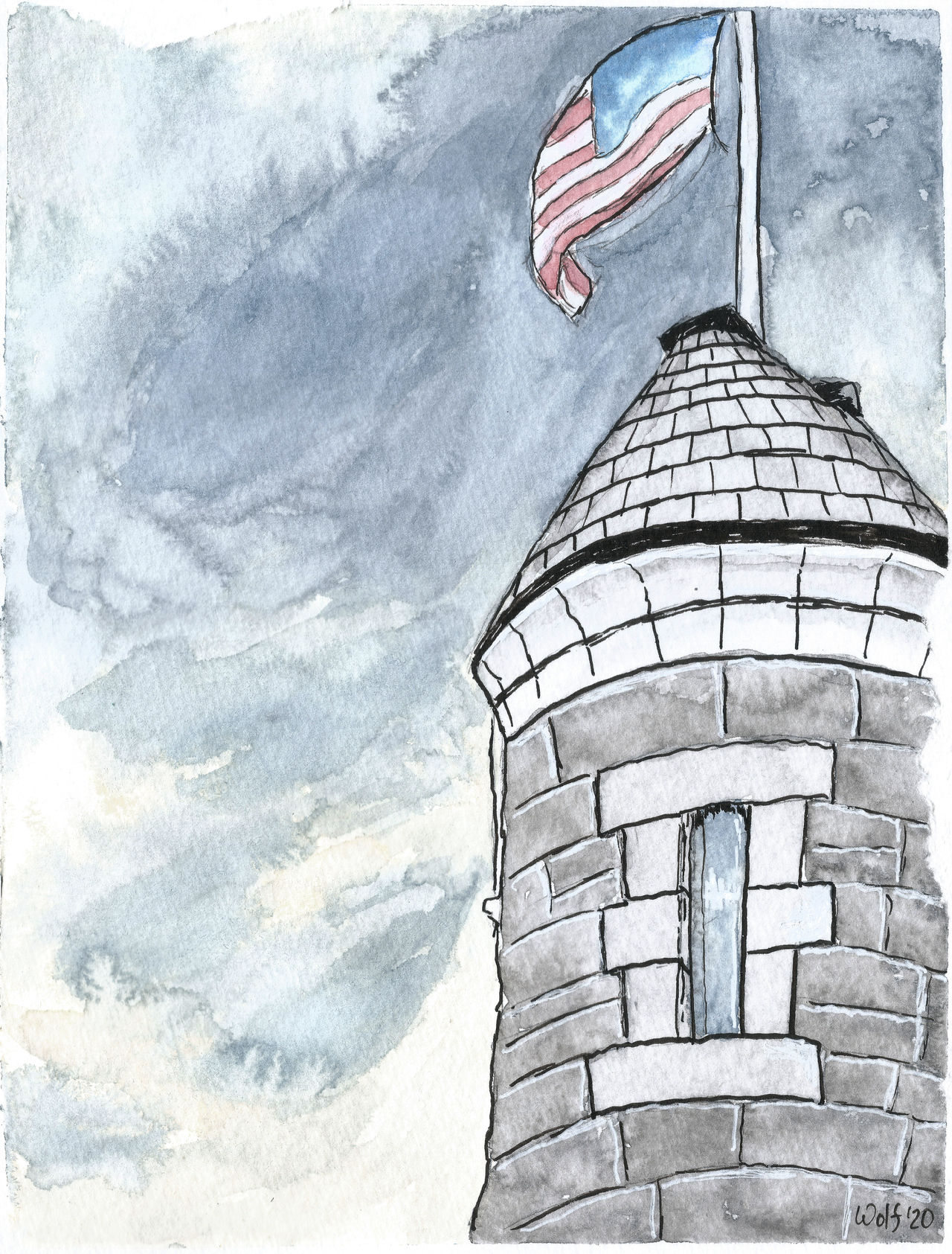 Inktober 52 2020 #11: Tower