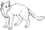 cat lineart from Contra Sheet