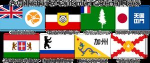 Random Colonial Flags of California
