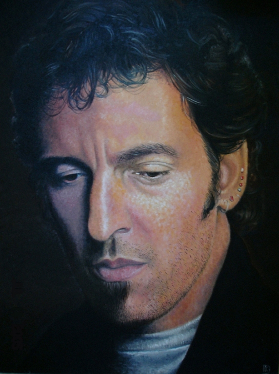 Bruce Springsteen 1988 by kevindoyleart