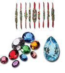 Decorate png gems, and other design
