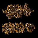 swirls  GOLD PNG