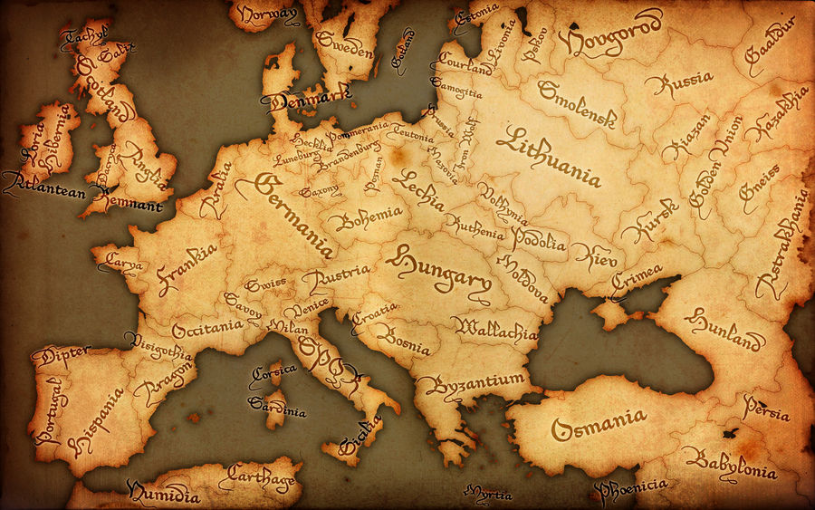 fantasy map of europe Fantasy Europe Map   Medieval by GTD Orion on DeviantArt