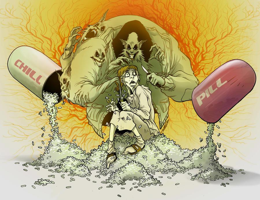 chill pill by ink imp on deviantart