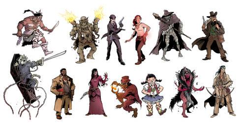 Sixth Gun Zombicide Characters