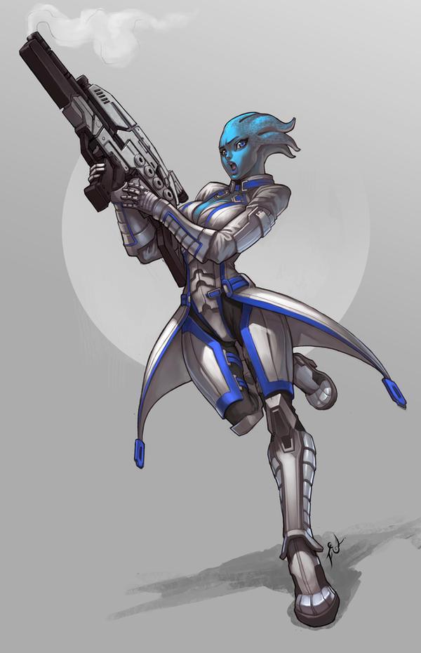 Asari Commando by Felsus
