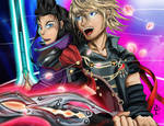 FFBE Rain and Lasswell by irrelavent83