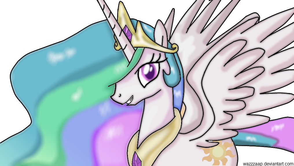 princess celestia by wazzzaap