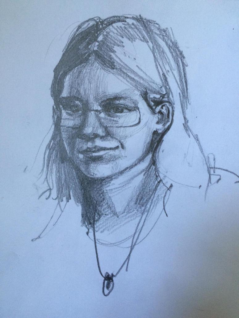 Portrait of my friend by EarstWindArt