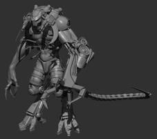 CGHub Mass Effect Challenge. Character WIP