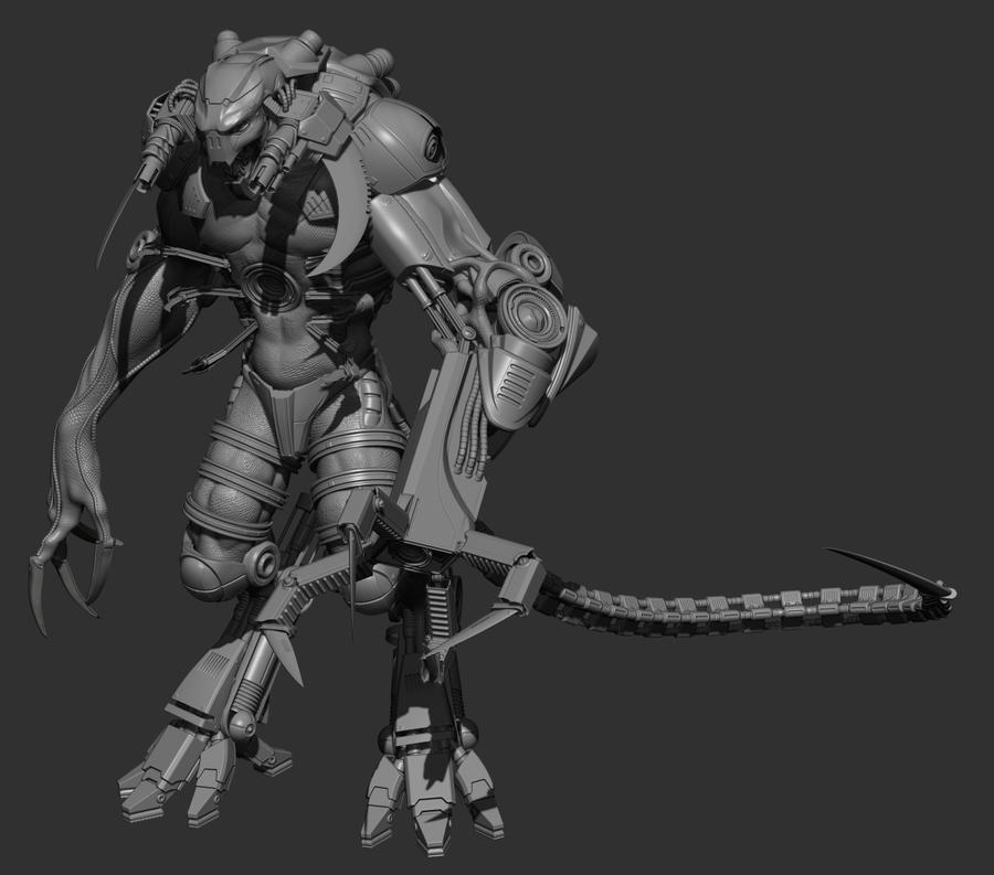 CGHub Mass Effect Challenge. Character WIP by THECOOLGEEK