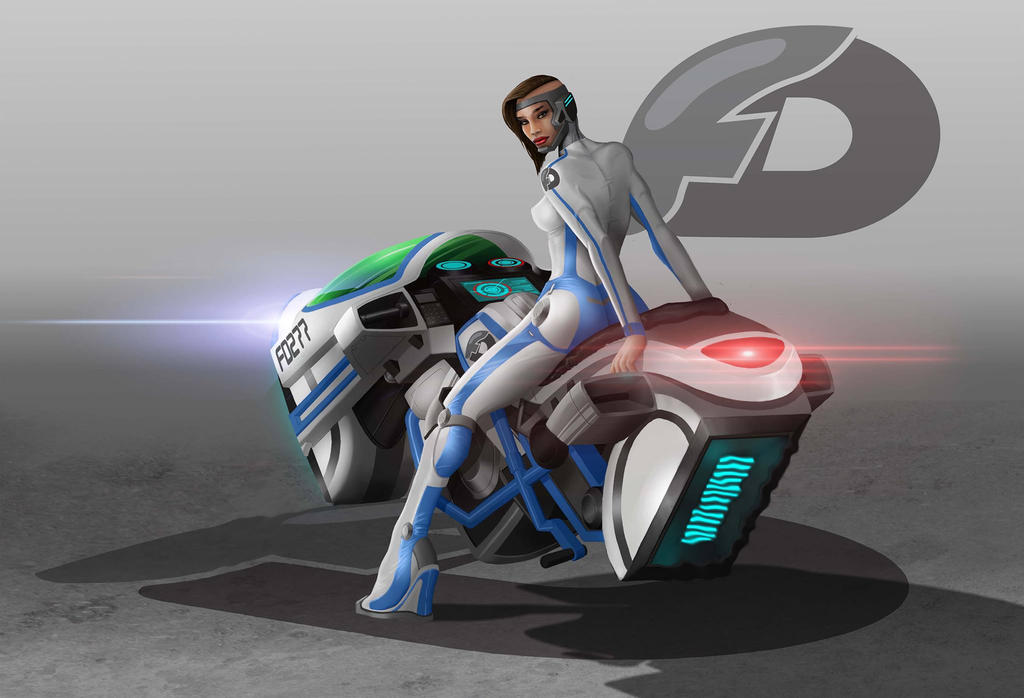 Hover biker by THECOOLGEEK
