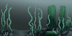 Ruin at the bottom of the sea