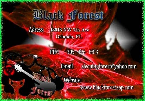 Black Forest Business Card