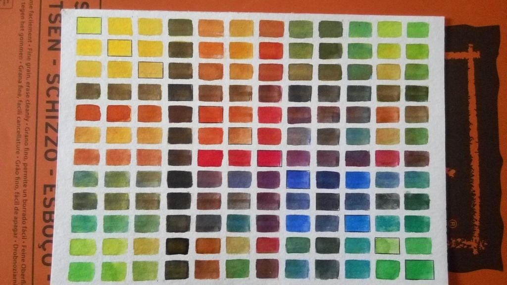 My watercolor glazing chart!  by LiefofHyrule
