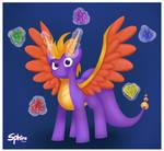 Spyro Pony by SphiraDraws