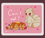 Ninetails hungry by SphiraDraws