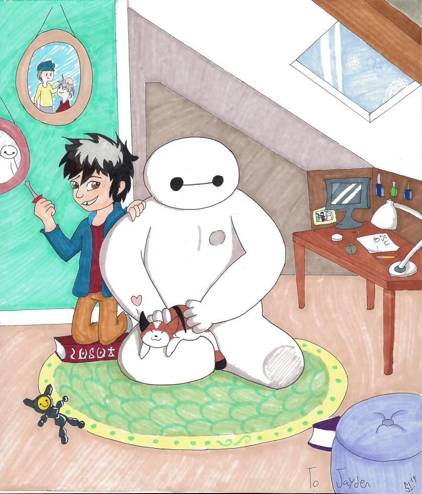 Hiro and Baymax by Marsupialbandit