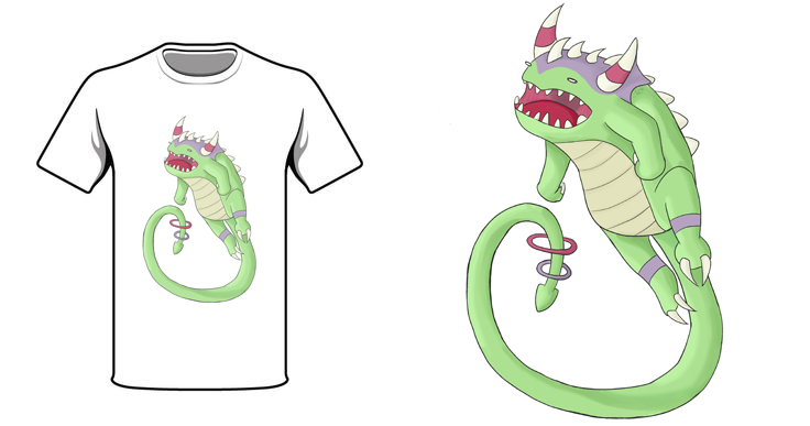 Potato Dragon T-Shirt Contest Submission by Marsupialbandit