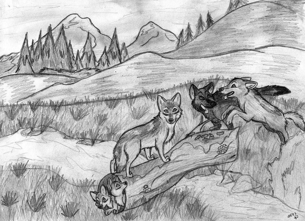 Wolf Pack Sketch By Wahyawolf On DeviantArt