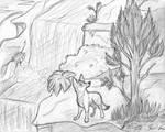 Farren (Sketch) by SocksTheMutt