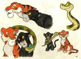 Jungle Cubs by SocksTheMutt