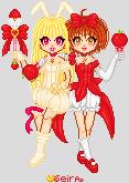 Mew Berii and Mew Ringo by orenji-seira