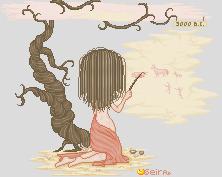 Prehistory girl by orenji-seira