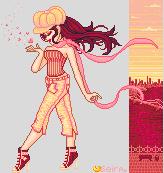 Pink city girl by orenji-seira