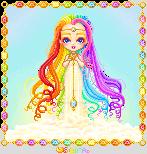 Chibi Iris: Goddess of the Rainbow by orenji-seira