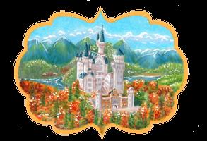 Neuschwanstein in autumn