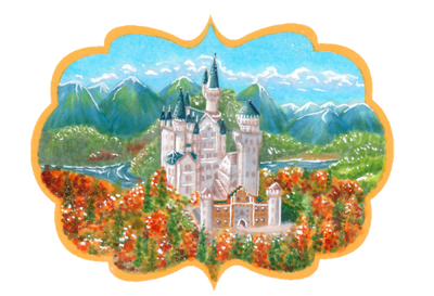 Neuschwanstein in autumn by orenji-seira
