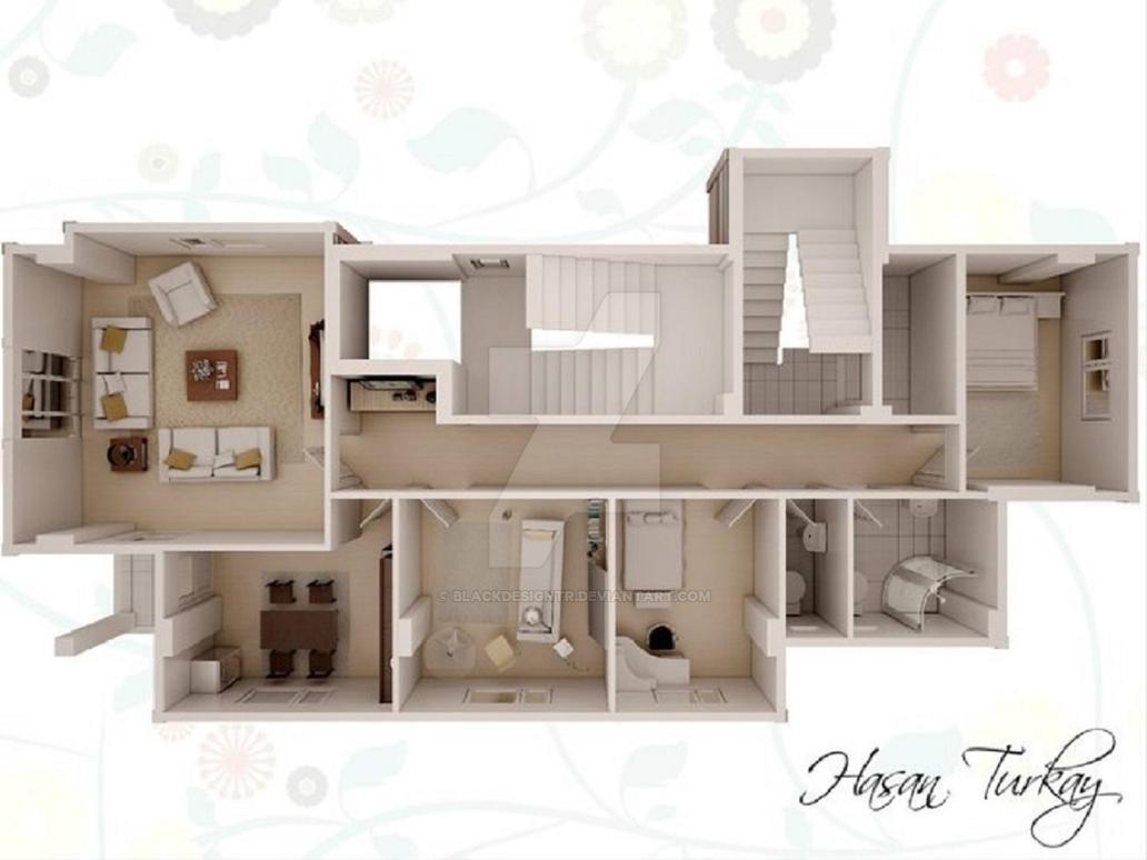 3d floor plan by Blackdesigntr