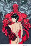 Hellboy and Liz 11 x 17