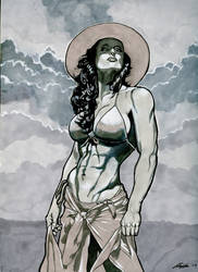 she hulk 9 x 12 by Barracuda9999