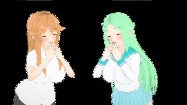 Midori and Matsuko Laughing together