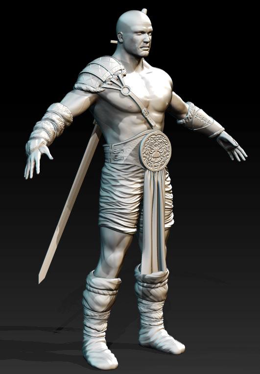 Sagat - Tribal Barbarian by DavidCroftSharland