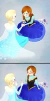 Anna and Elsa Nail Art