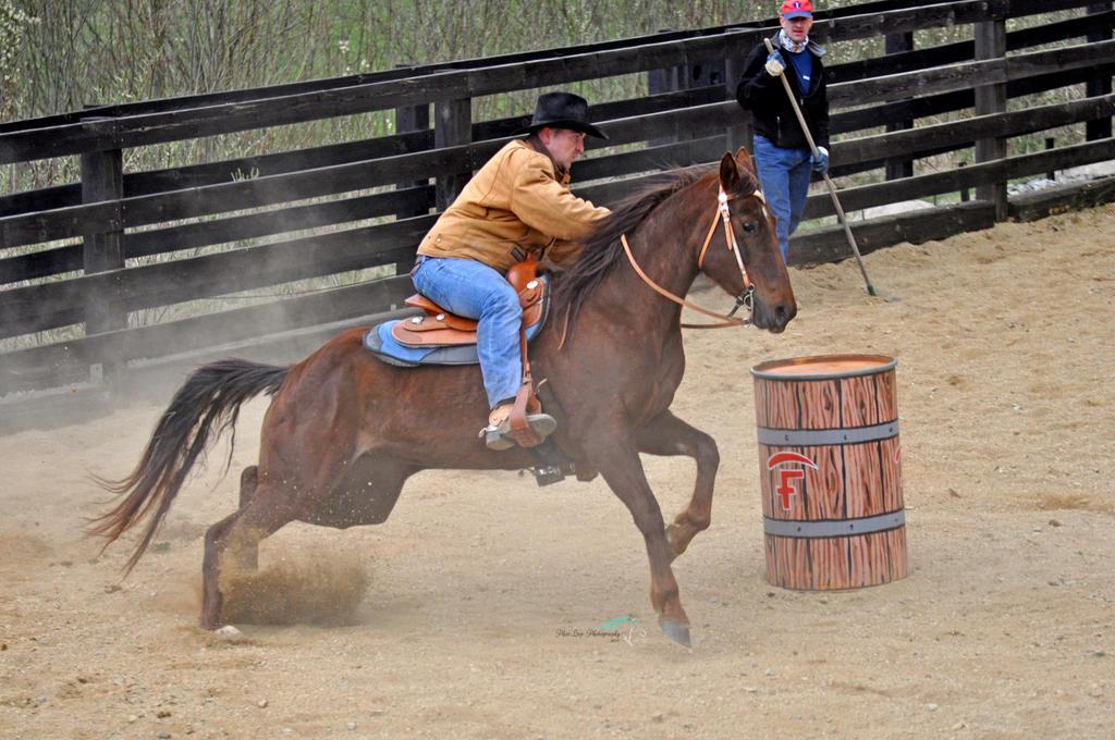 Barrel racing by Desirestar