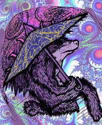 Wolfman with Cosmic Pineappbrella - Whacked 2 by racingspoons