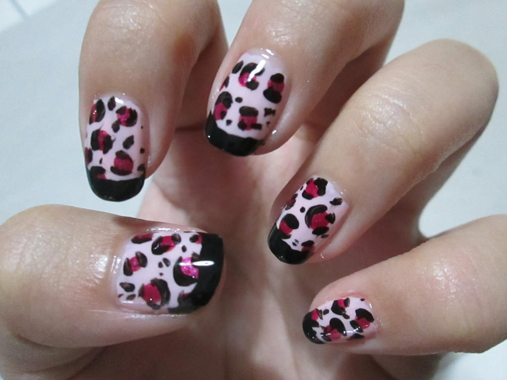 Pink Leopard Nail Art TUTORIAL by rishamu on deviantART