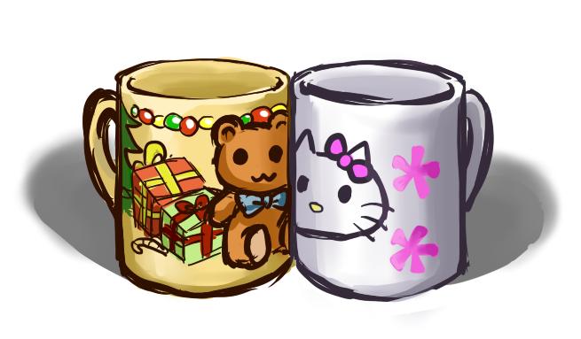 Sherlock's and John's mugs by HuoYaoRi