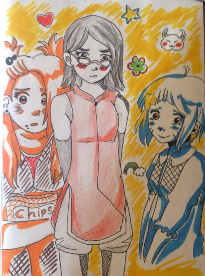 Girl's trio by Vera-chan15
